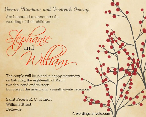 Wedding Reception Invitation Wording Samples Wordings and Messages