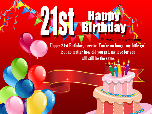 21st Birthday Wishes Messages And 21st Birthday Card Wordings Wordings And Messages