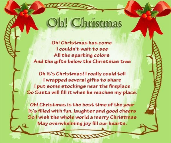 Christmas Card With Christmas Poems