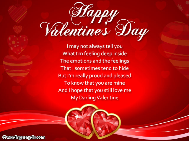 Valentines Day Wishes Be My Valentine Wordings and Messages – Valentines Card Image