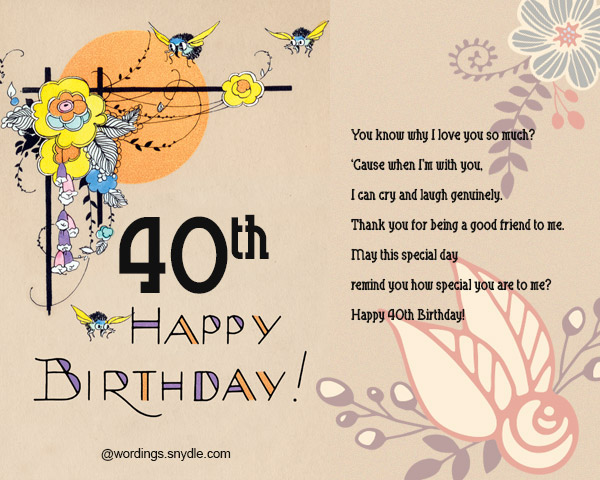 40th Birthday Wishes And Card 03