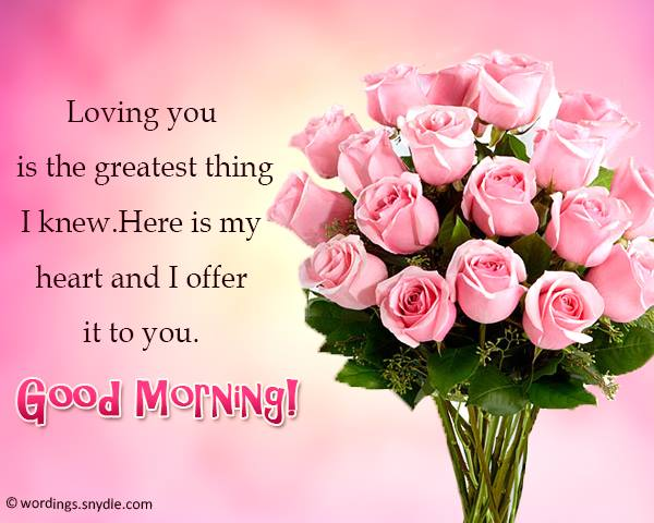 Romantic good morning messages wordings and messages for those who get to wake up with their special someone beside them here are some sweet good morning messages that might help you in making a sweet message m4hsunfo