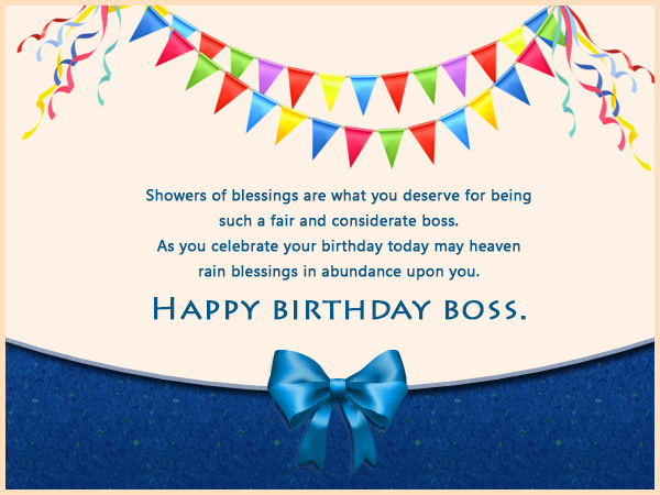 Birthday Wishes for Boss and Birthday Card Wordings for ...
