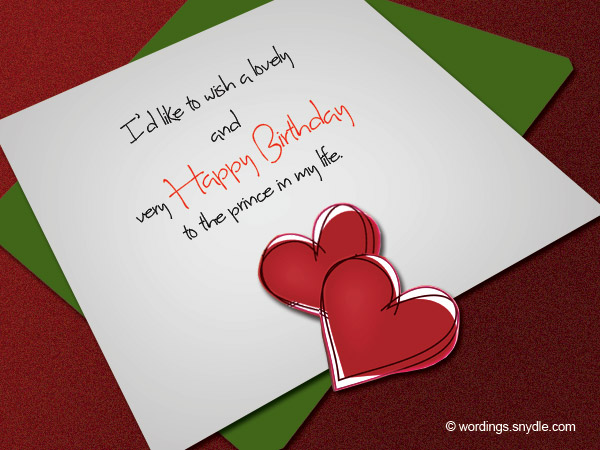 Birthday Wishes for Boyfriend and Boyfriend Birthday Card Wordings – Short Birthday Greetings