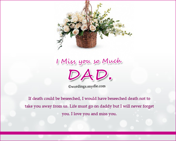Missing You Messages for a Father who Died - Wordings and ...