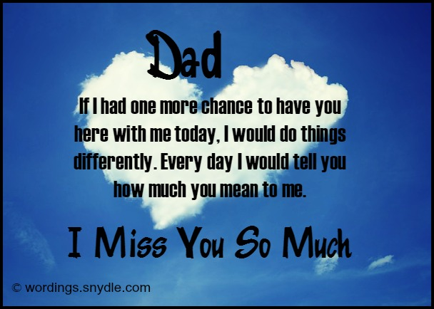 Missing You Messages for a Father