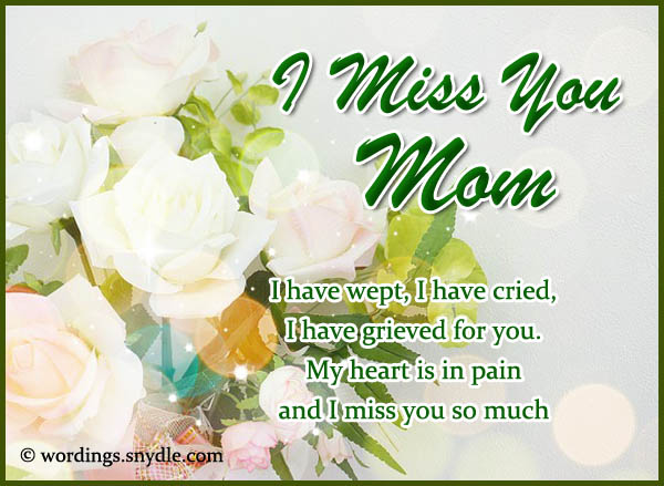 Missing You Messages For Mother Who Died