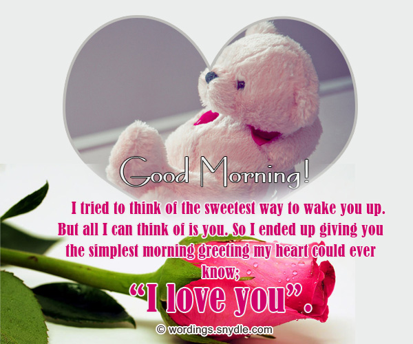 Merveilleux Romantic Good Morning Sms