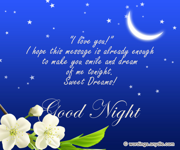 Sweet goodnight messages and cute goodnight text messages wordings sweet good night messages m4hsunfo Image collections