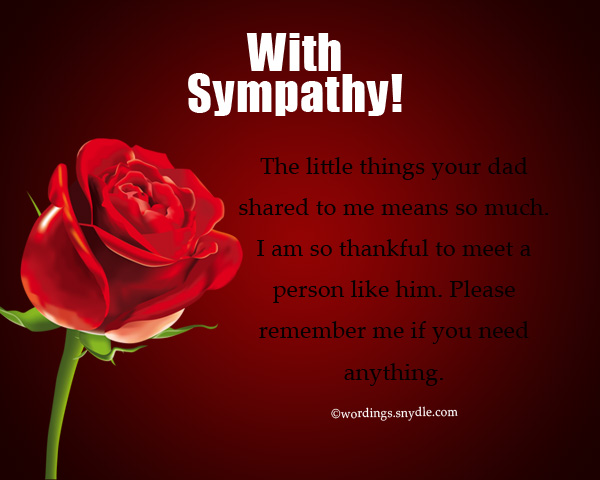 Sympathy Messages for Loss of Father - Wordings and Messages
