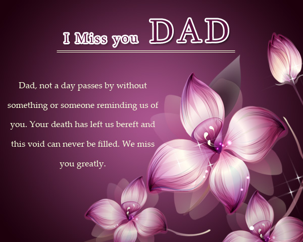 Missing You Messages for a Father who Died - Wordings and Messages