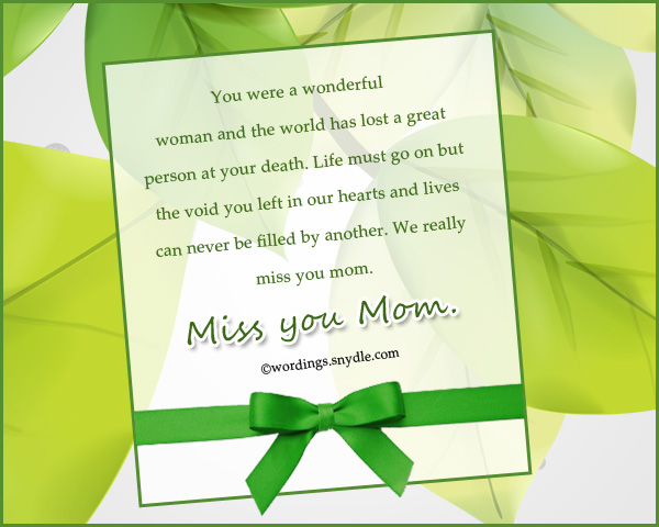 Missing You Messages For Mother Who Died Wordings And Messages