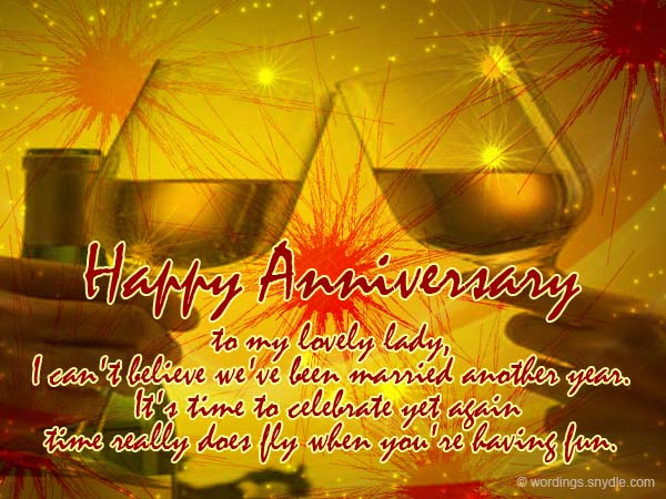 Wedding anniversary messages for wife wordings and