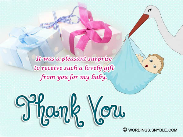 thank you notes for baby shower gifts