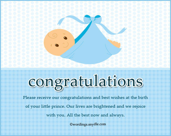 Congratulation messages for new born baby boy wordings and messages best new baby boy wishes m4hsunfo