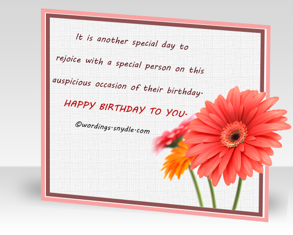 What To Write in a Birthday Card Wordings and Messages – Birthday Card for Someone Special