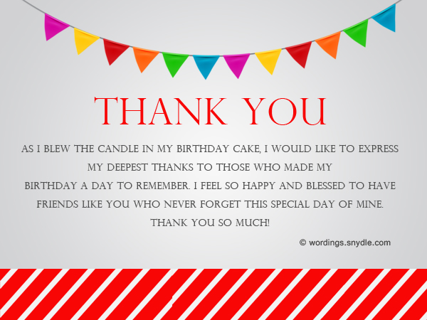 How to say thank you for birthday wishes wordings and messages birthday thank you messages m4hsunfo Gallery
