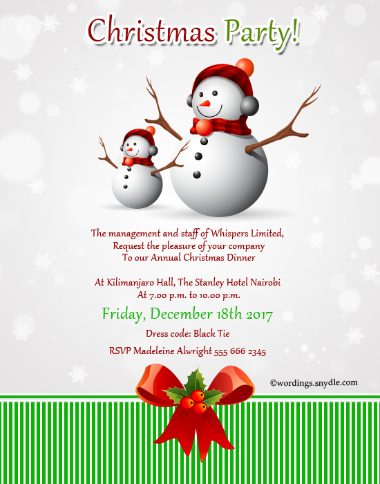 Christmas party invitation wordings wordings and messages christmas party invitations stopboris Choice Image