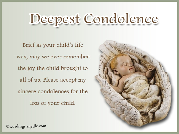 Sympathy Messages For Loss Of A Child - Wordings And Messages