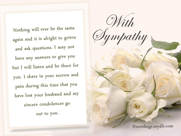 How to write a sympathy message