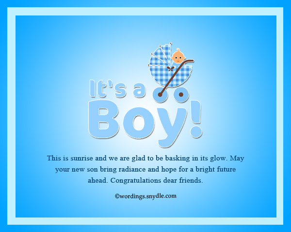 congratulation messages for new born baby boy