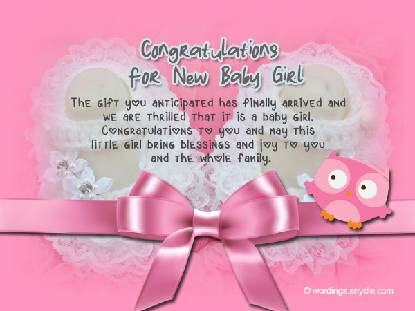 congratulations for the new baby girl
