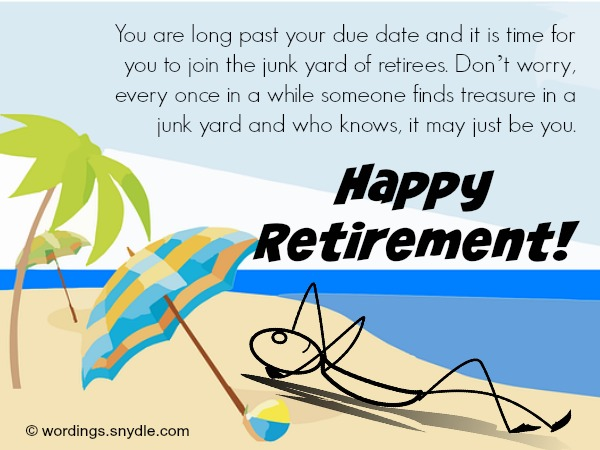 Funny Retirement Wishes And Messages Wordings And Messages
