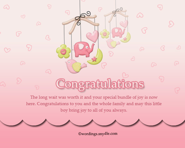 Congratulation messages for new born baby boy wordings and messages good wishes for new born baby boy m4hsunfo