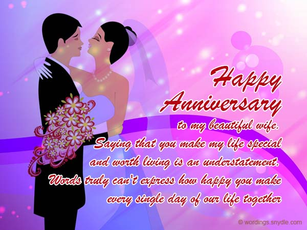 wedding anniversary messages for wife wordings and messages