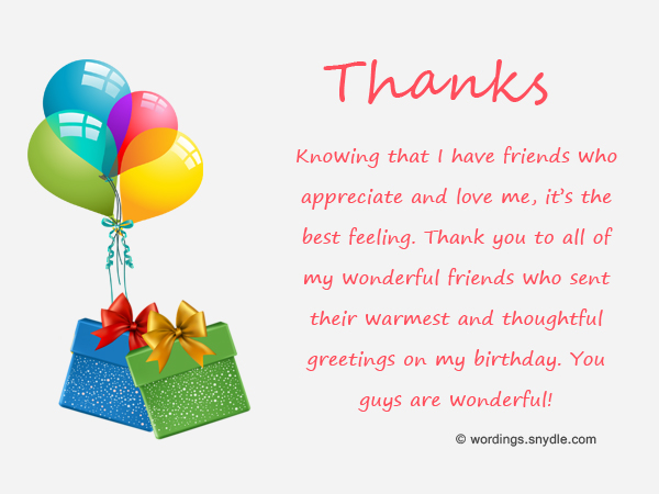 Thank You Messages for Birthday Wishes For Facebook