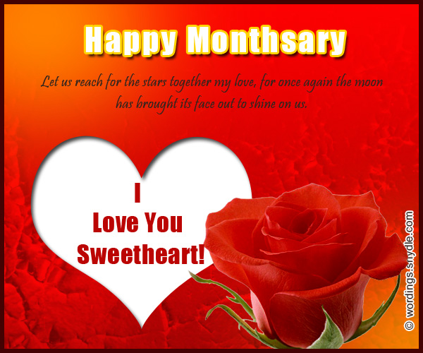 Happy monthsary messages for boyfriend and girlfriend wordings and happy monthsary my love happy monthsary greetings m4hsunfo