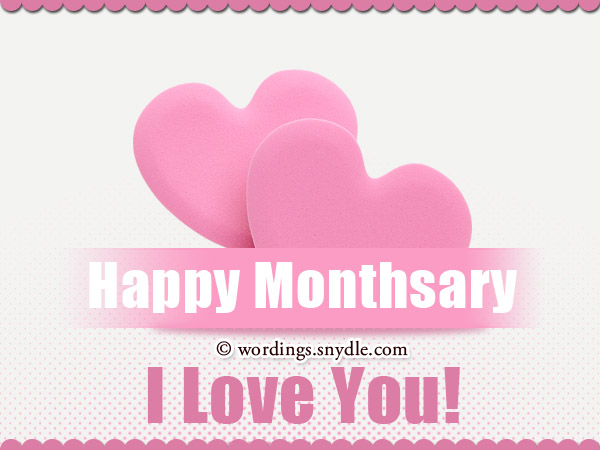 Happy Monthsary my love, may our love blossom more and more in the new ...