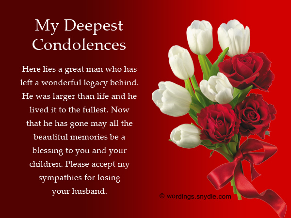Sympathy Messages For Loss Of Husband - Wordings And Messages