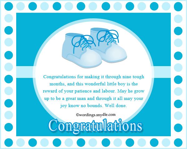 It S A Boy Quotes: Congratulation Messages For New Born Baby Boy