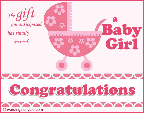 Congratulations messages for new baby girl wordings and messages new baby girl wishes m4hsunfo