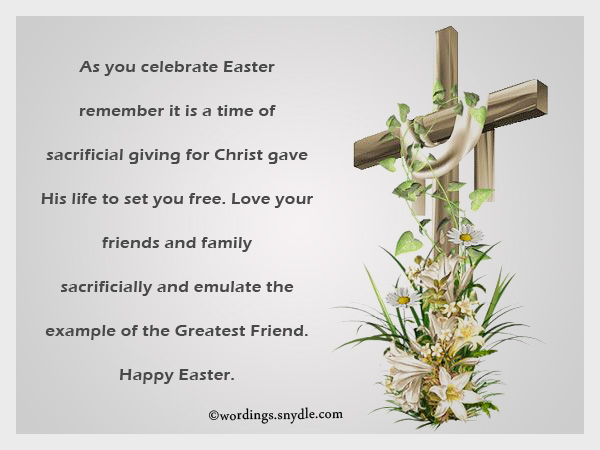 Religious easter messages and christian easter wishes wordings and religious easter greetings wordings m4hsunfo