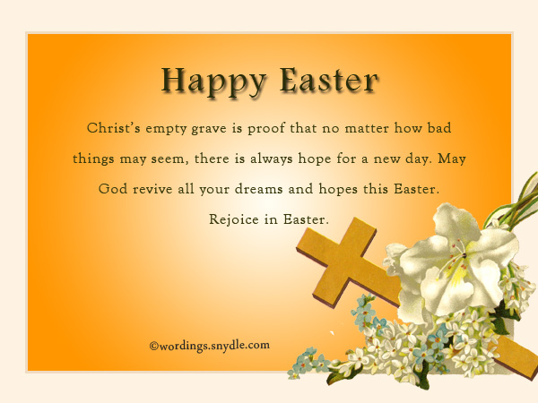 Religious easter messages and christian easter wishes wordings and religious easter messages m4hsunfo
