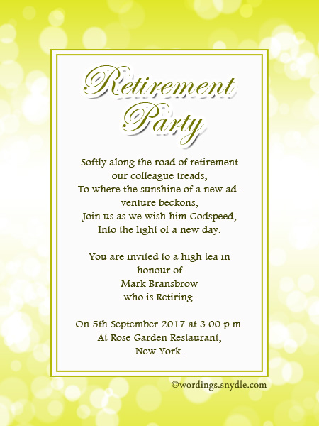 Invitation card for retirement for Retirement invitation template free
