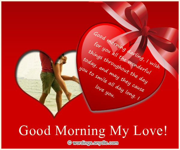 Good Morning My Love Wife Images : Romantic good morning messages wordings and