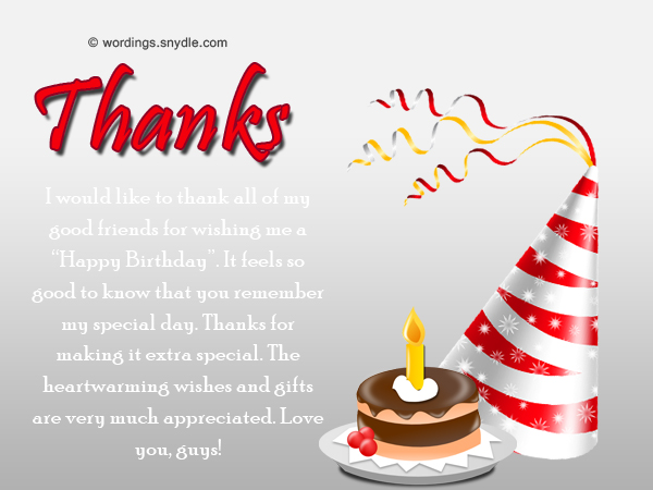 How to say thank you for birthday wishes wordings and messages sample of thank you messages for birthday wishes m4hsunfo