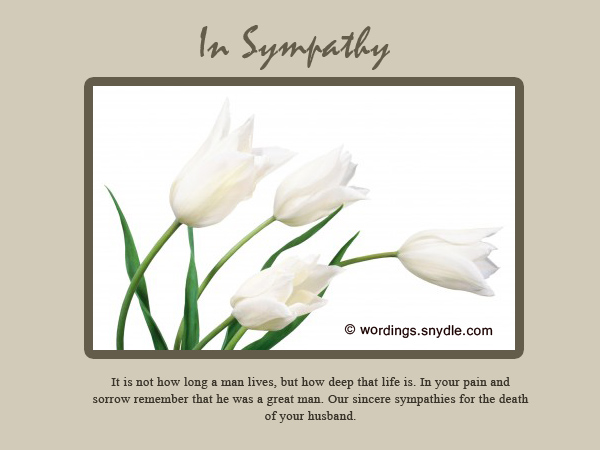Sympathy messages for loss of husband wordings and messages sympathy card messages for loss of husband m4hsunfo