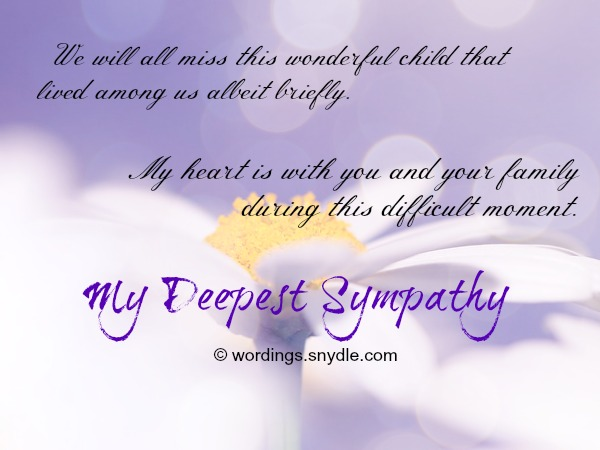 Sympathy Messages For Loss Of A Child  Wordings And Messages
