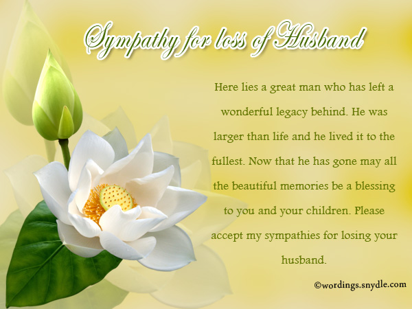 Sympathy messages for loss of husband wordings and messages sympathy messages for loss of husband m4hsunfo Choice Image