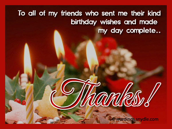 How to say thank you for birthday wishes wordings and messages thank you for birthday wishes m4hsunfo