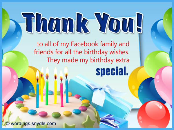 How To Say Thank You For Birthday Wishes Wordings and Messages – Thanks for Birthday Card