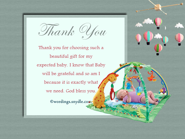 Thank You Cards For Baby Shower Gifts