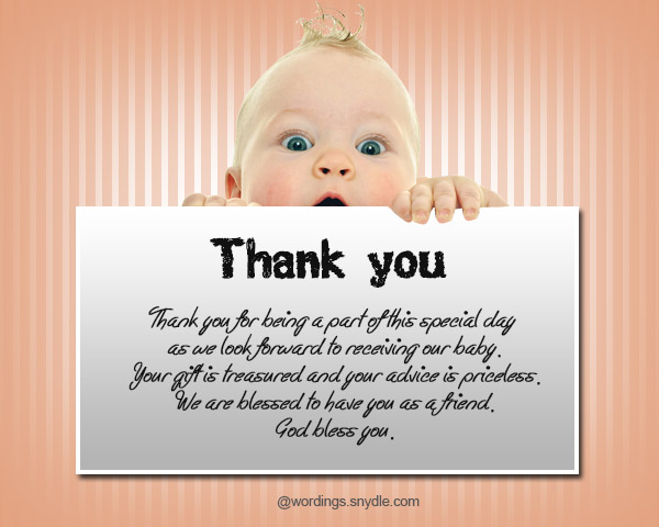 Baby Gift Thank You Wording From Baby : Thank you messages for baby shower and gifts