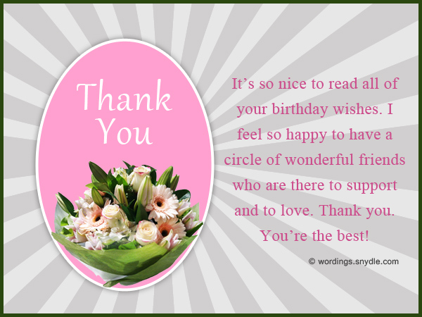 How to say thank you for birthday wishes wordings and messages thank you note for birthday wishe on facebook m4hsunfo Images