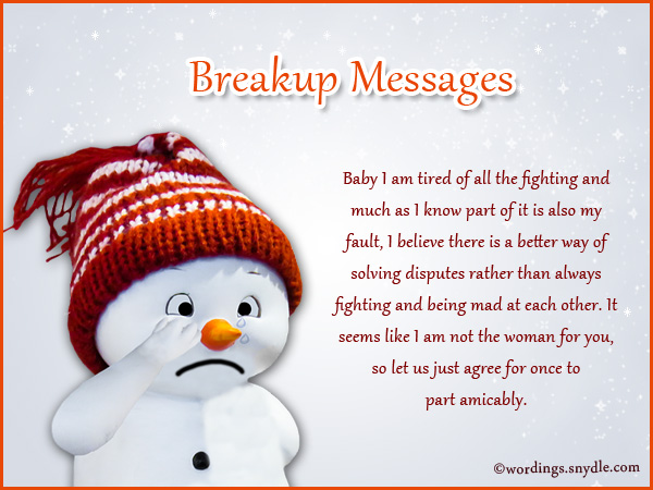 Breakup Messages for Boyfriend Wordings and Messages