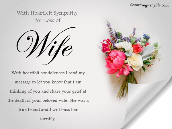Sympathy messages for loss of a wife wordings and messages words of condolence for the loss of a wife m4hsunfo